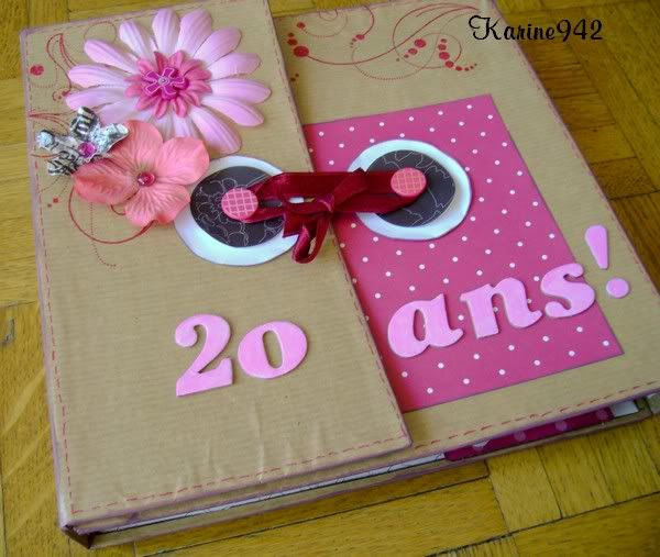 album scrapbooking anniversaire 20 ans