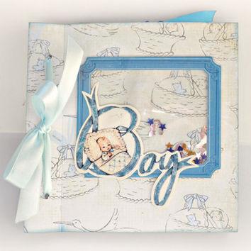 album scrapbooking baby boy