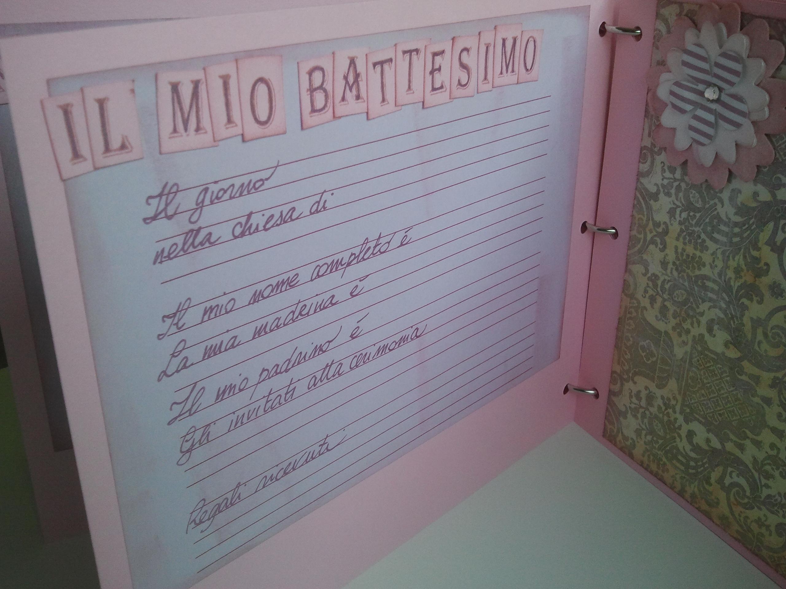 album scrapbooking battesimo