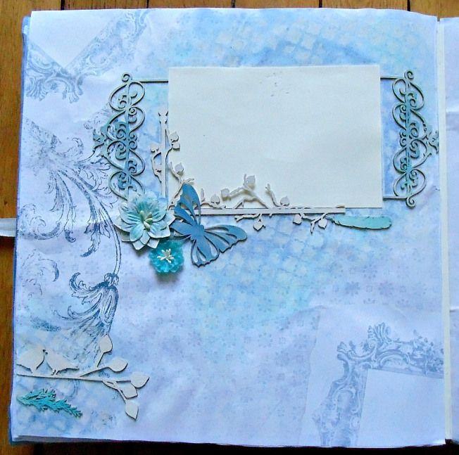 album scrapbooking bleu