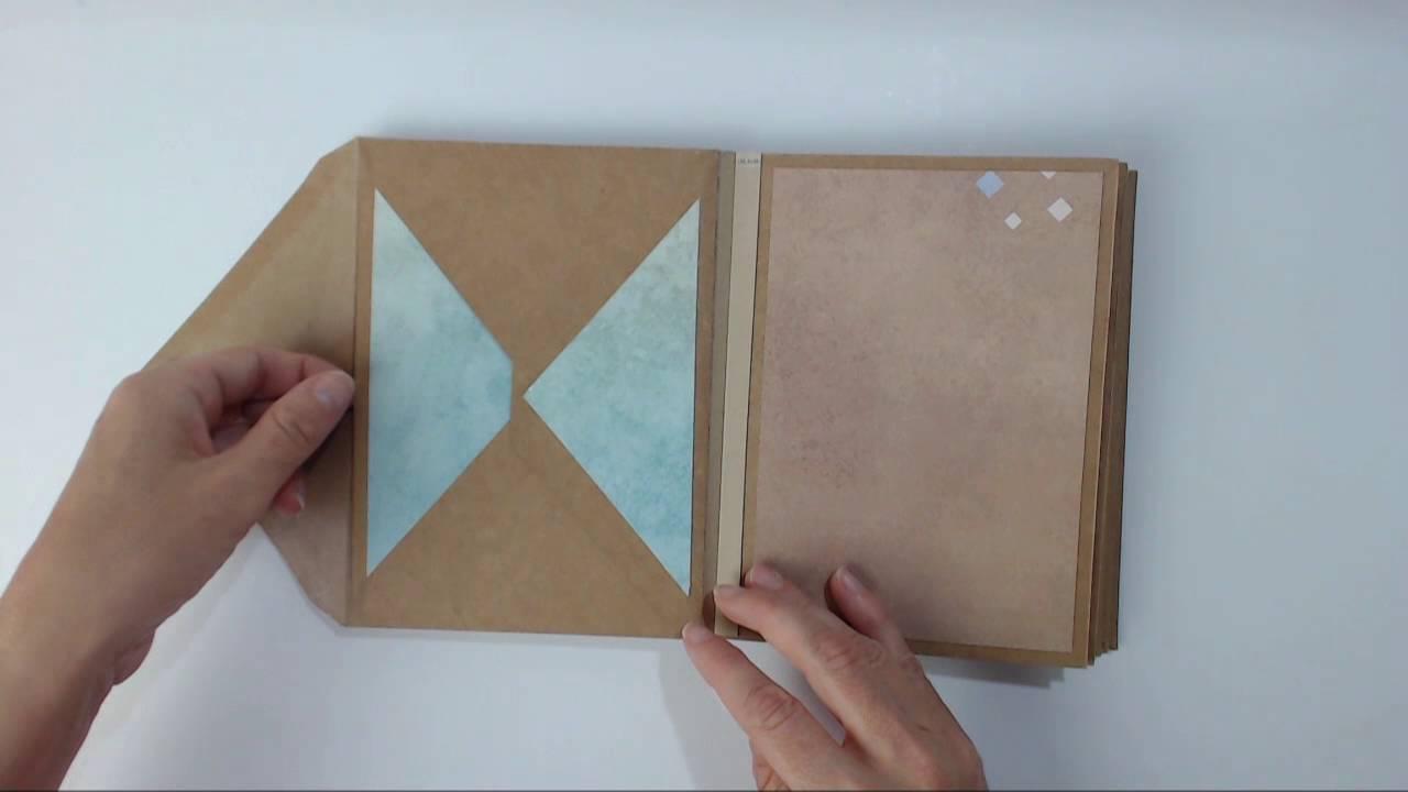 album scrapbooking enveloppe kraft