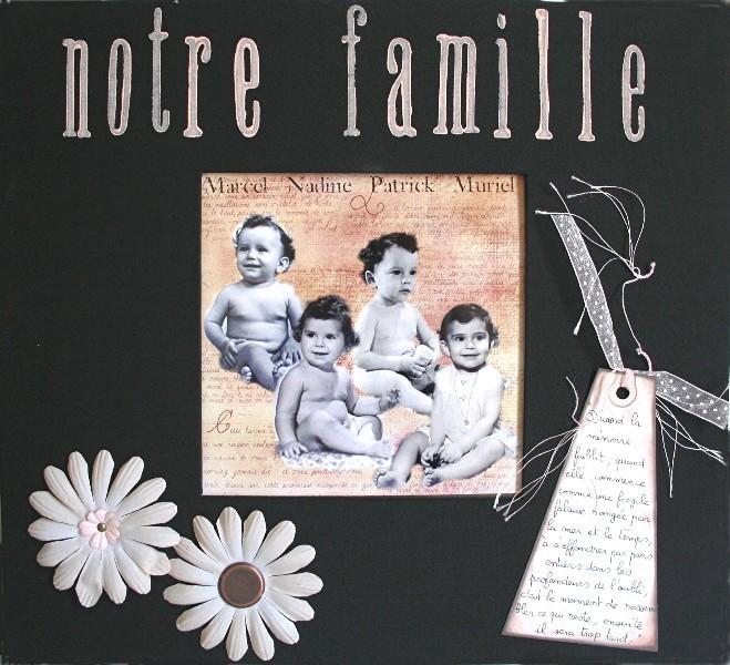 album scrapbooking famille