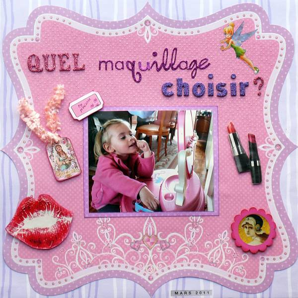 album scrapbooking maquillage