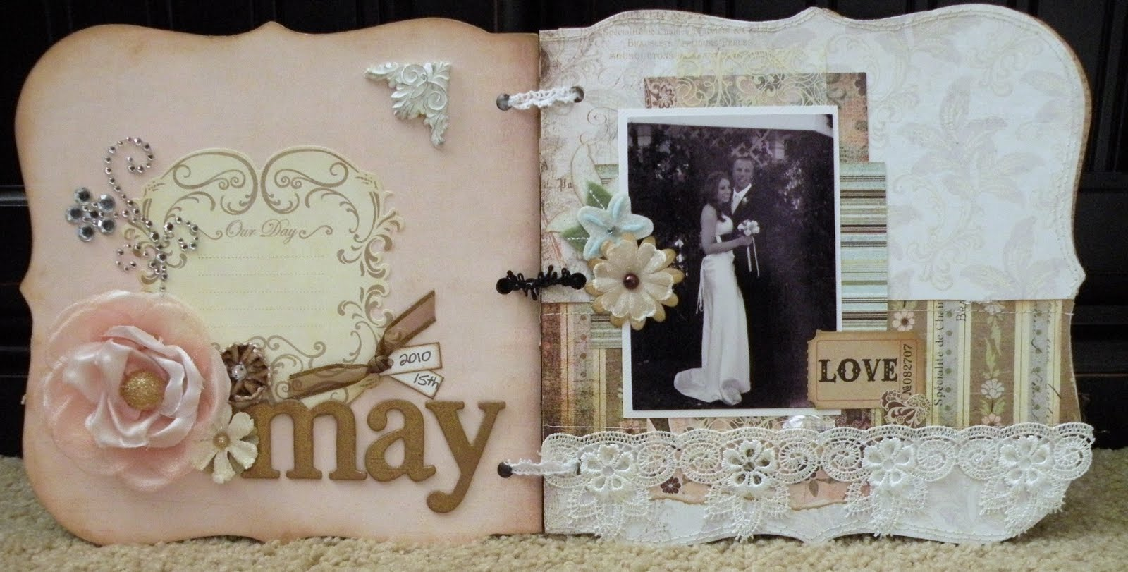 album scrapbooking wedding