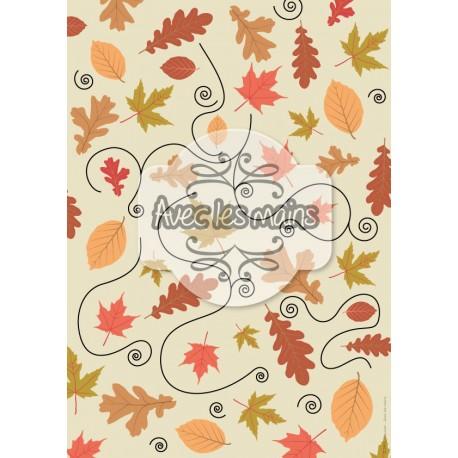 papier scrapbooking automne