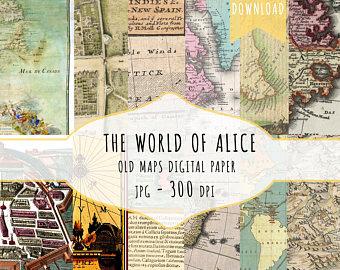 papier scrapbooking carte du monde