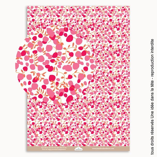 papier scrapbooking fleuri