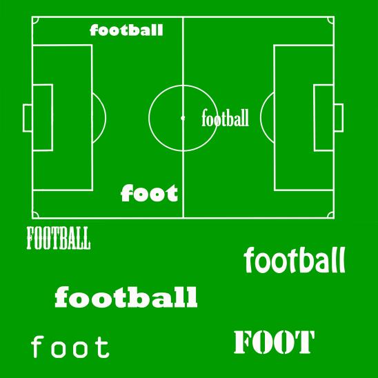 papier scrapbooking football