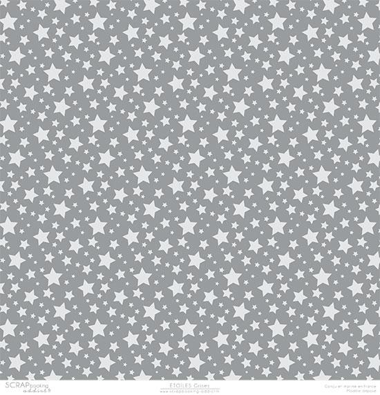 papier scrapbooking gris a pois