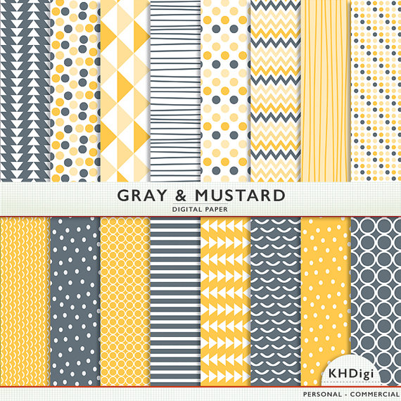 papier scrapbooking gris et jaune