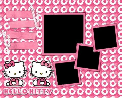 papier scrapbooking hello kitty
