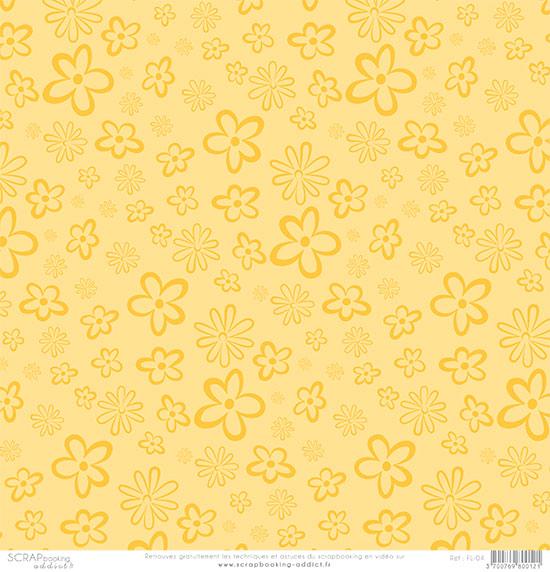papier scrapbooking jaune