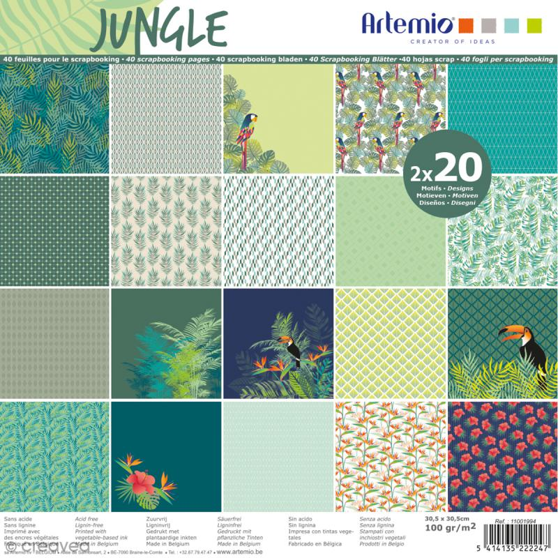 papier scrapbooking jungle