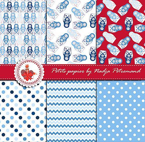papier scrapbooking liberty bleu