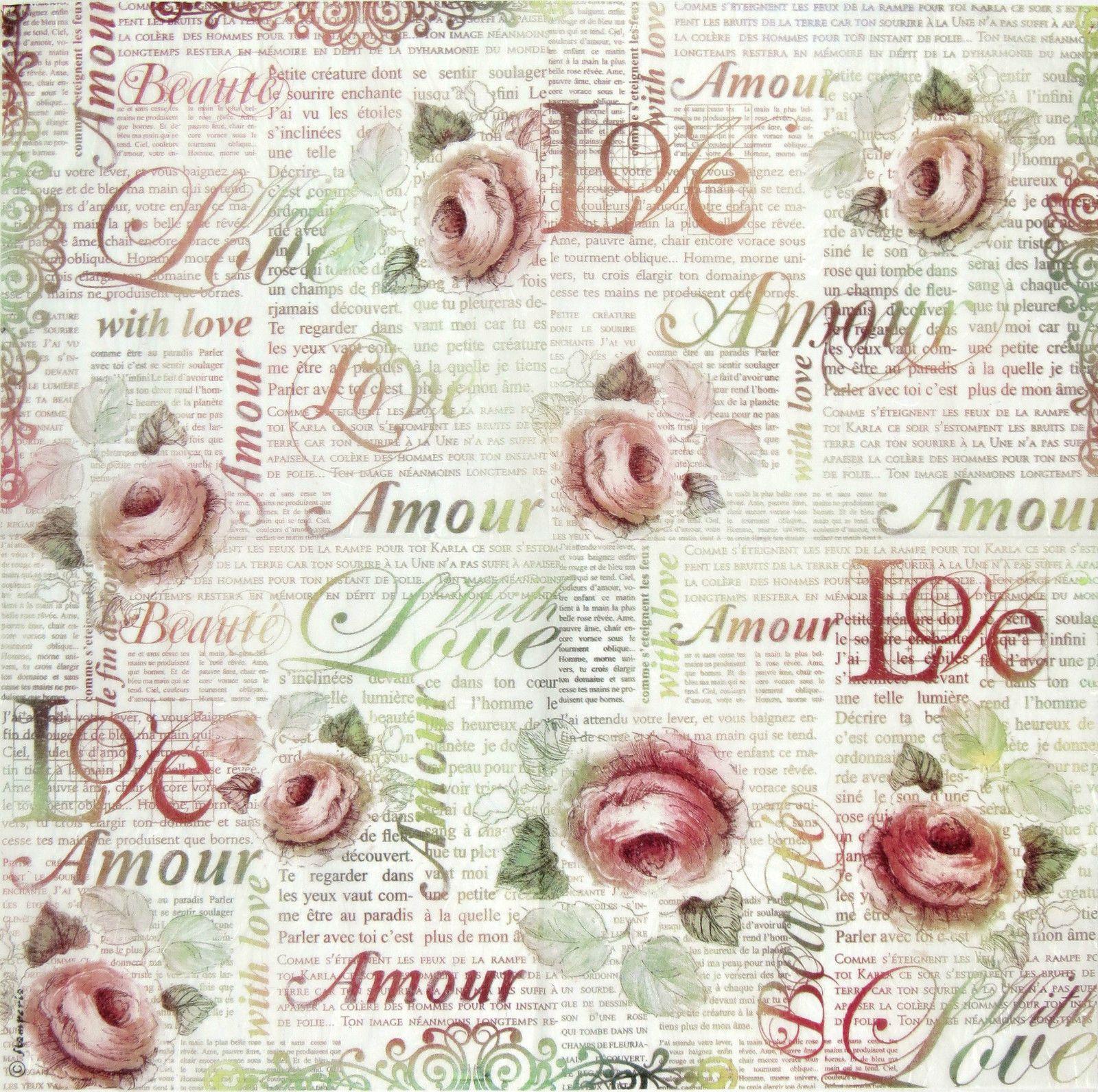 papier scrapbooking love