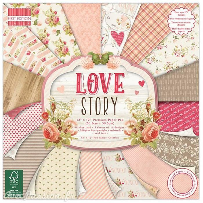 papier scrapbooking love