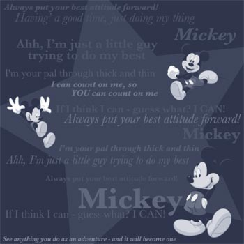 papier scrapbooking mickey