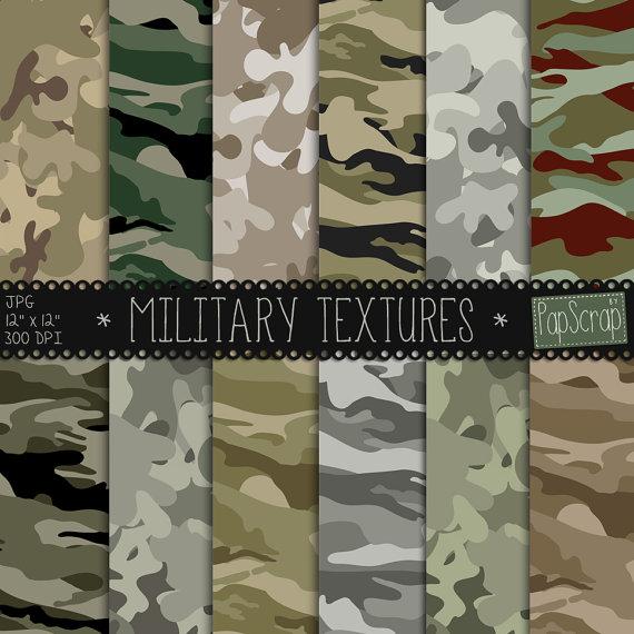 papier scrapbooking militaire