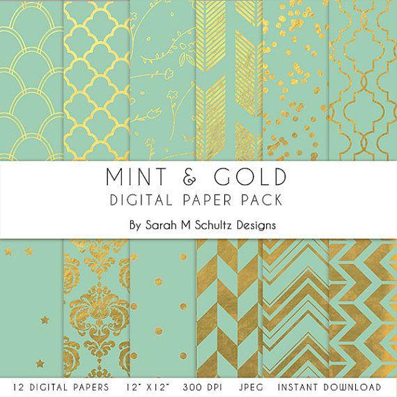 papier scrapbooking mint