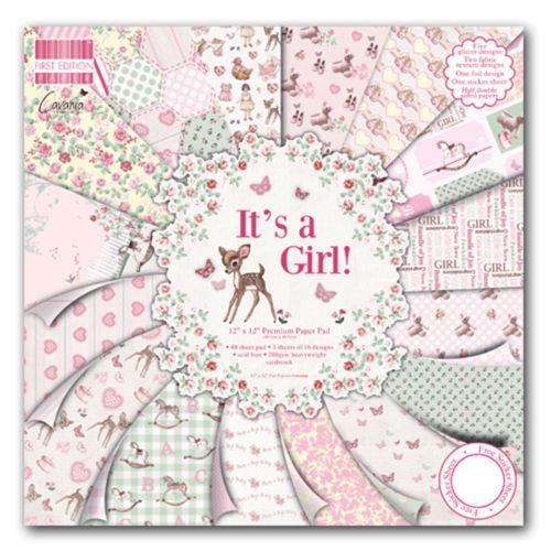 papier scrapbooking naissance fille