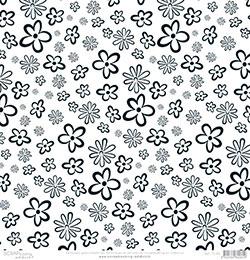 papier scrapbooking noir et blanc