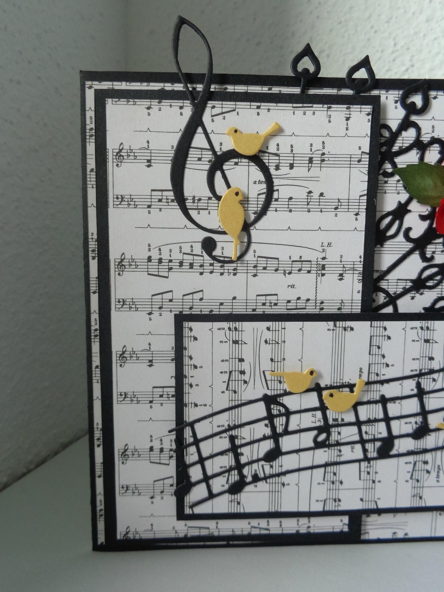 papier scrapbooking note de musique