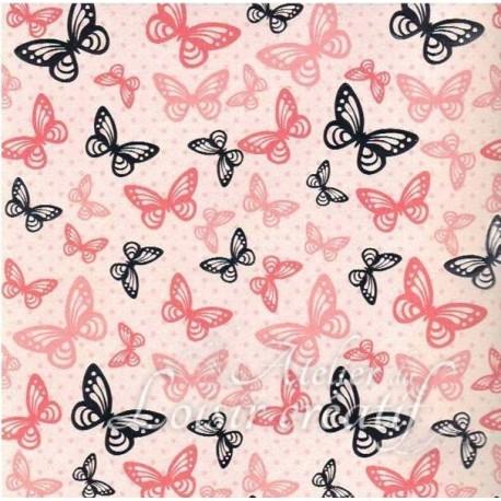 papier scrapbooking papillon