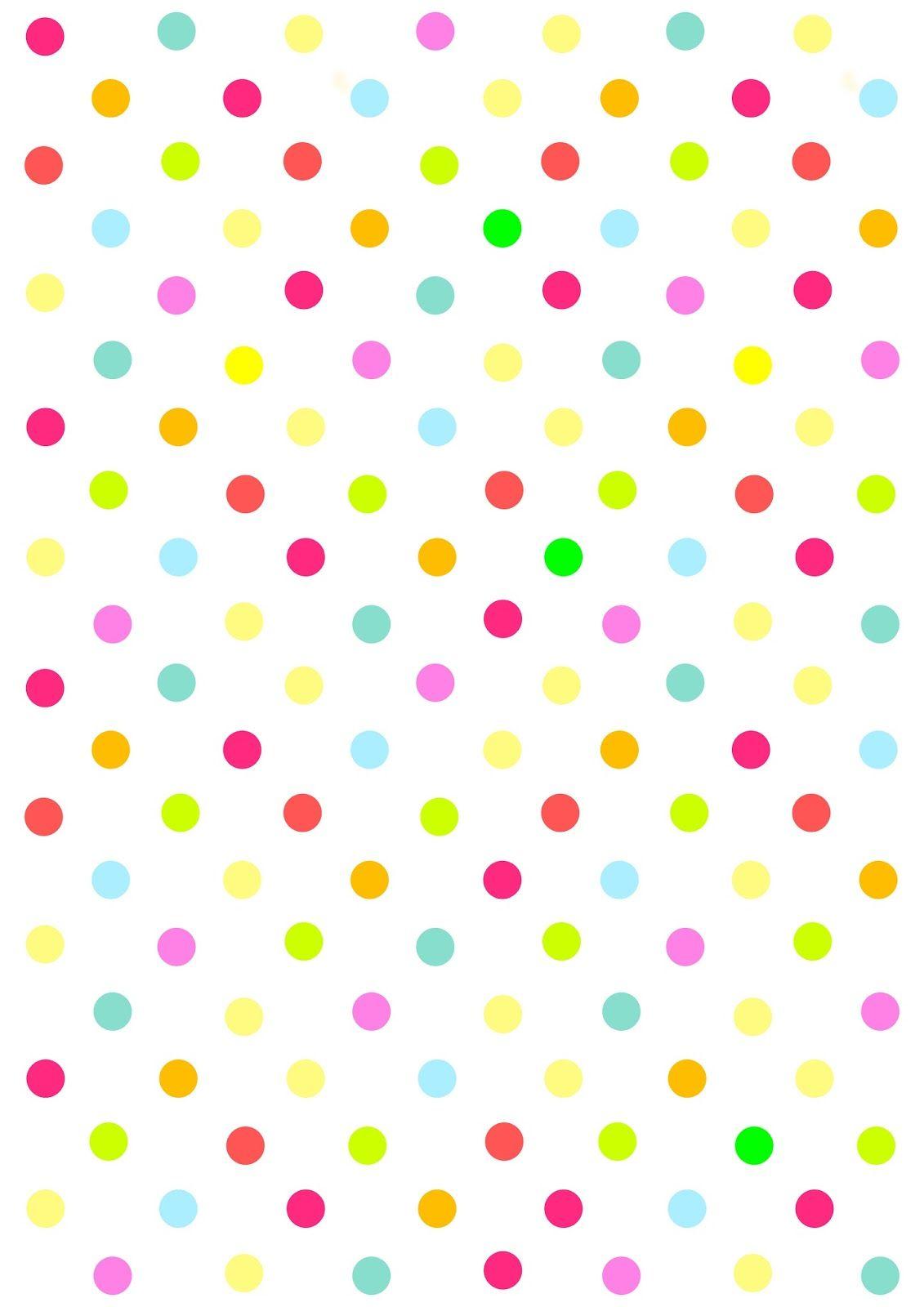 papier scrapbooking pois multicolores