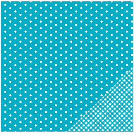 papier scrapbooking recto verso bleu
