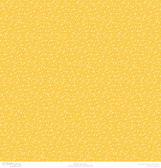 papier scrapbooking recto verso jaune gris