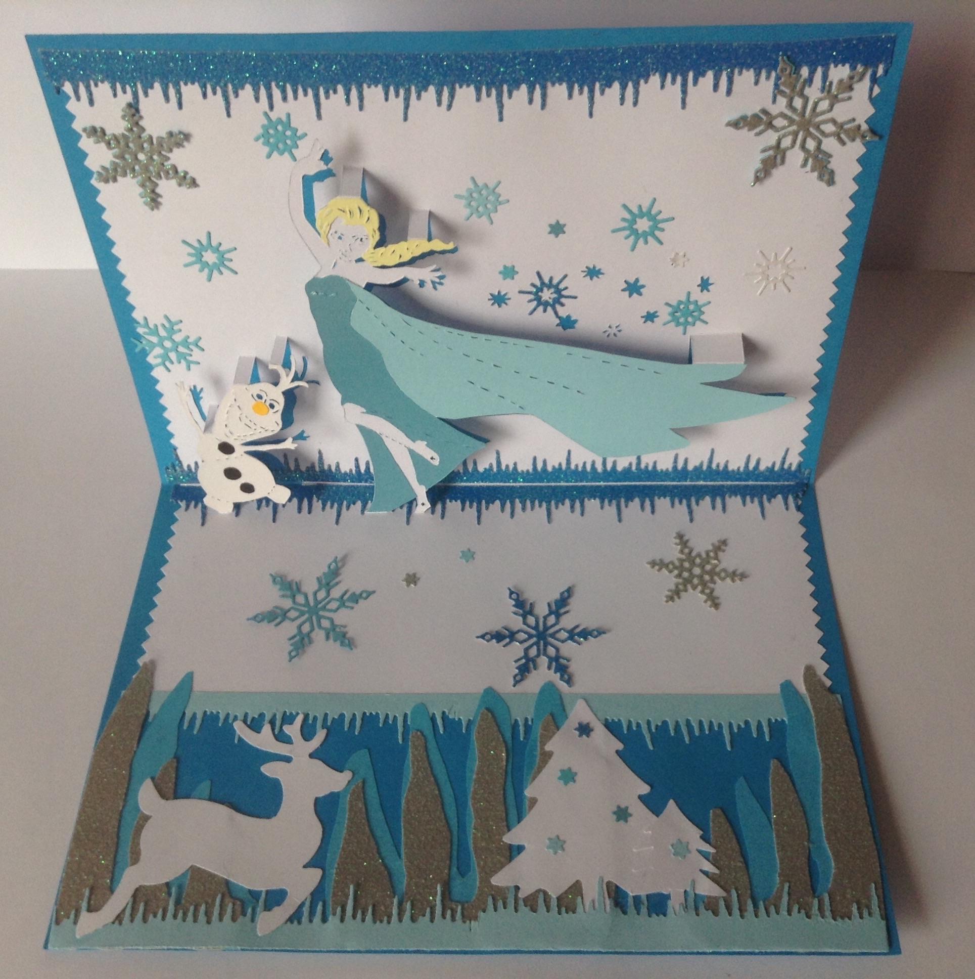 papier scrapbooking reine des neiges
