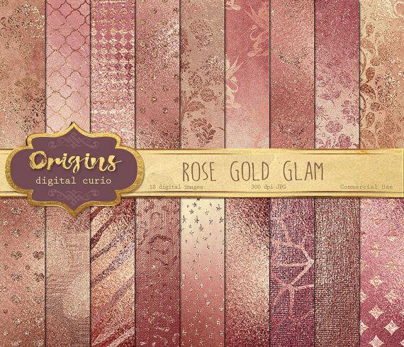 papier scrapbooking rose gold