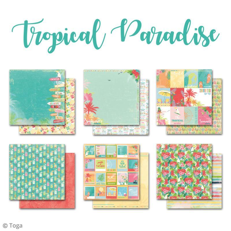 papier scrapbooking tropical