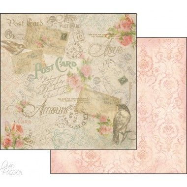 papier scrapbooking vieux rose
