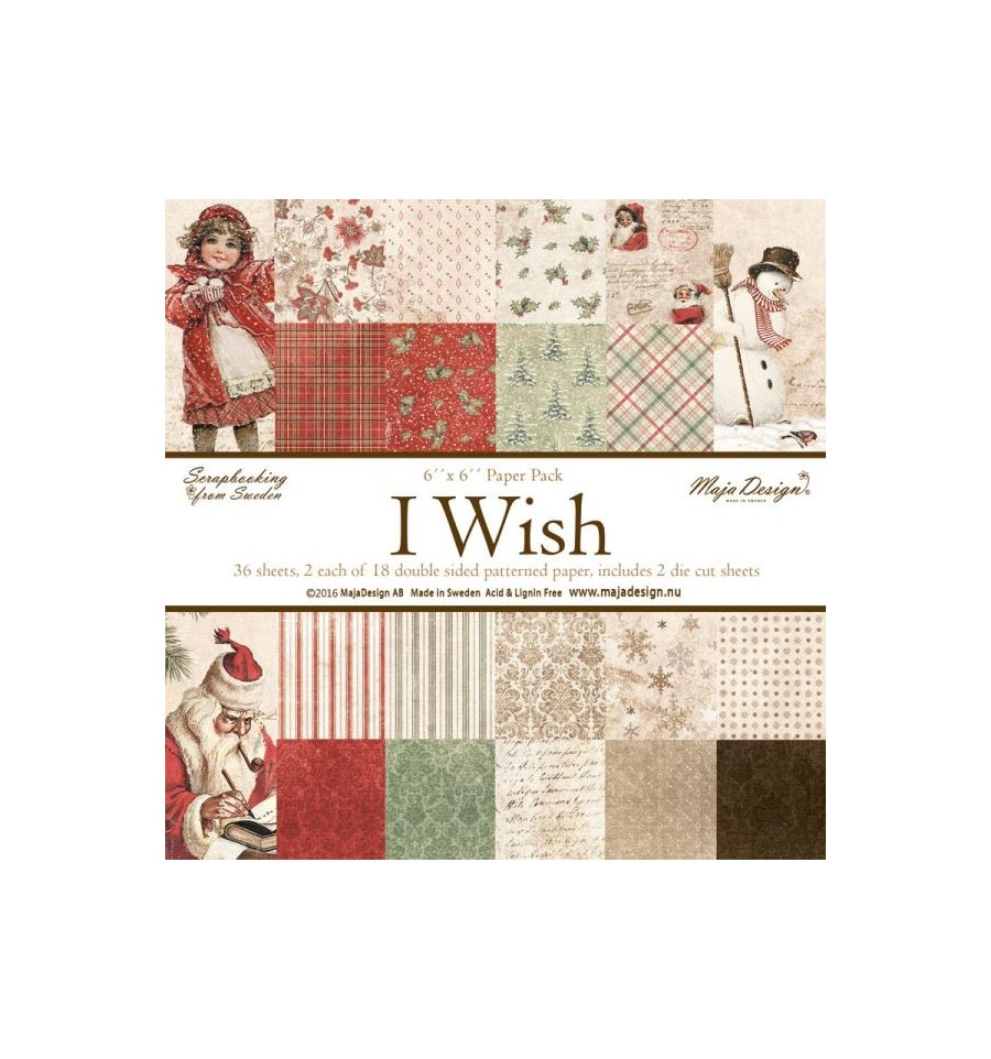 papier scrapbooking wish