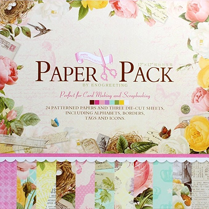 scrapbooking 12x12 paper packs