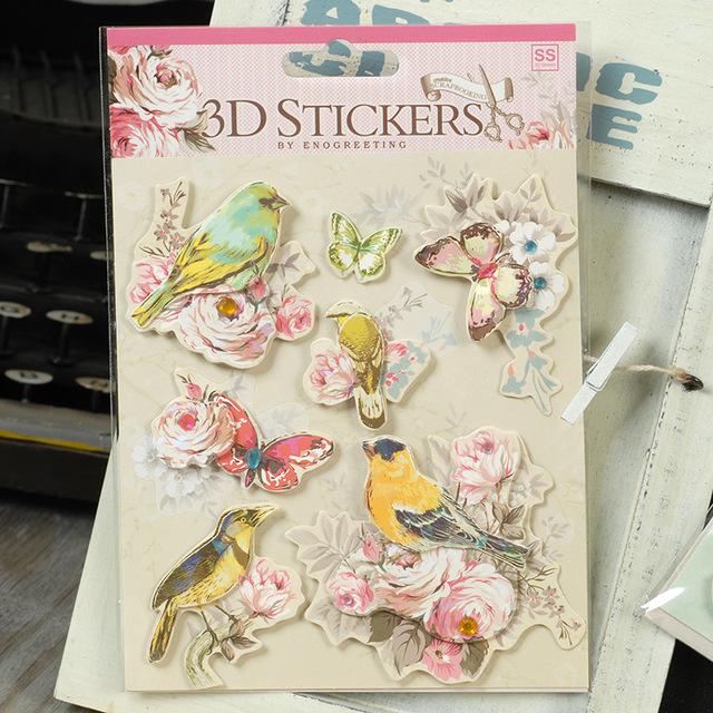 scrapbooking 3d stickers