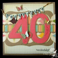 scrapbooking 40 birthday