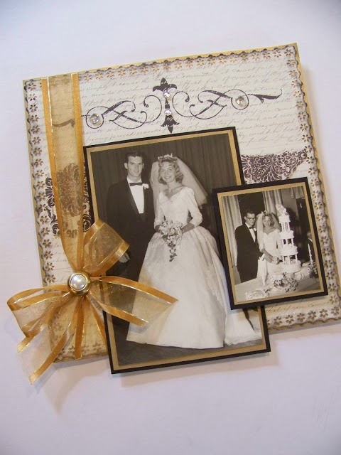 scrapbooking 50th wedding anniversary layout