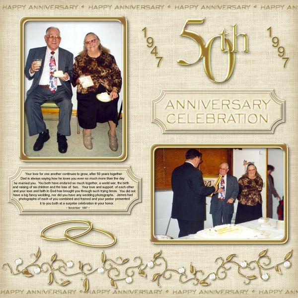 scrapbooking 50th wedding anniversary