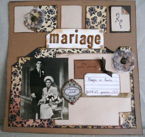 scrapbooking 60 ans de mariage