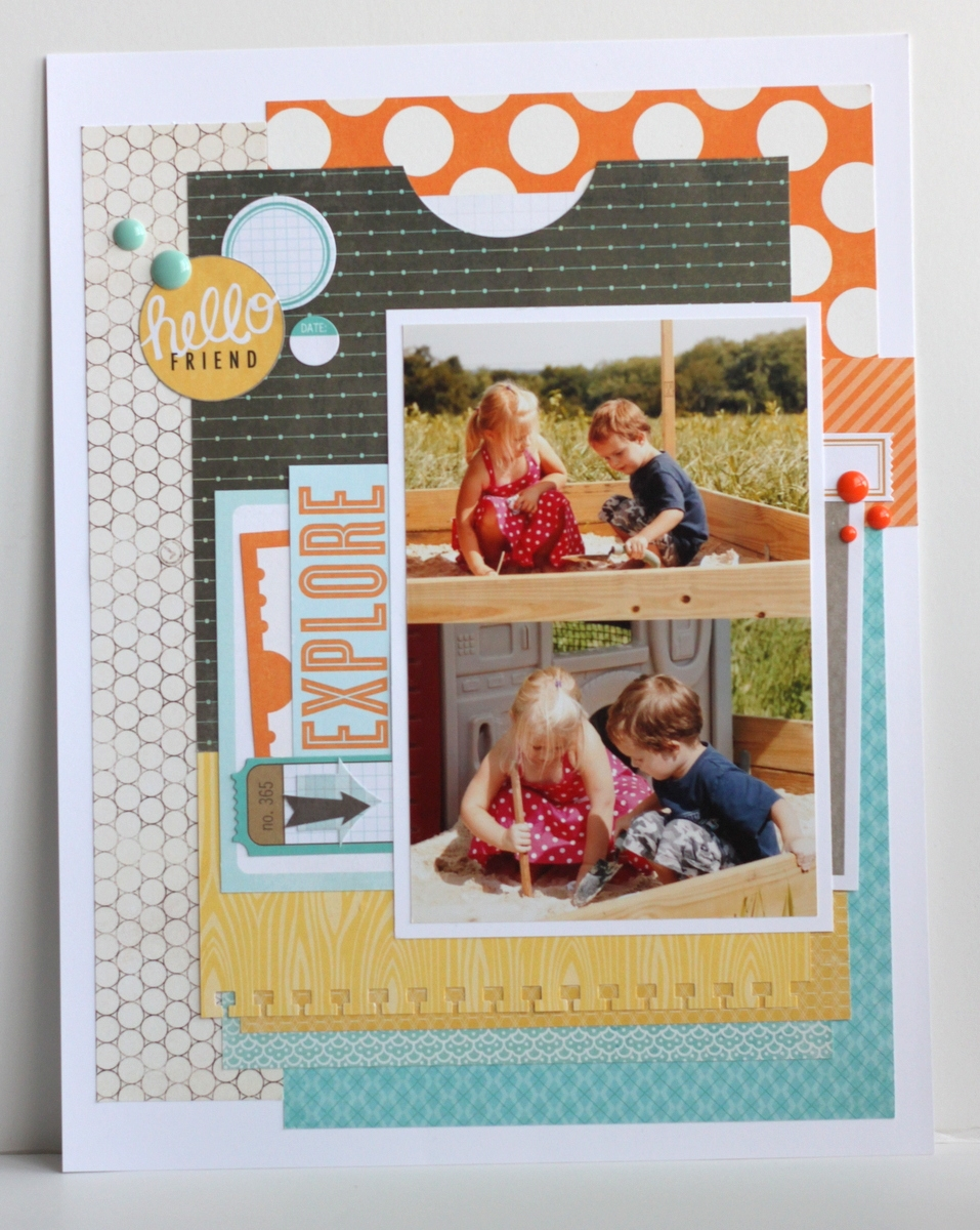 scrapbooking 8.5 x 11 layouts