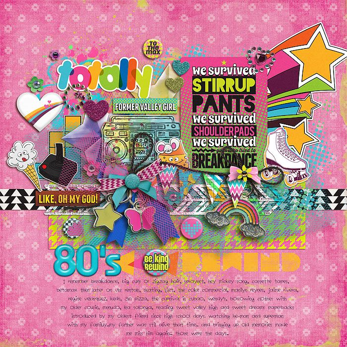 scrapbooking 80's ideas