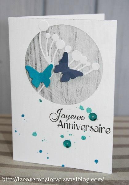 scrapbooking carte anniversaire