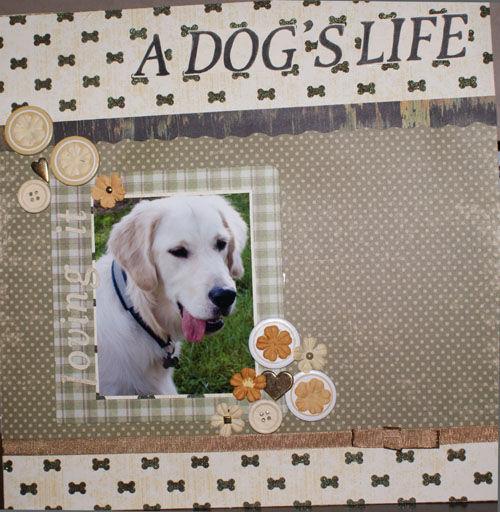 scrapbooking chien