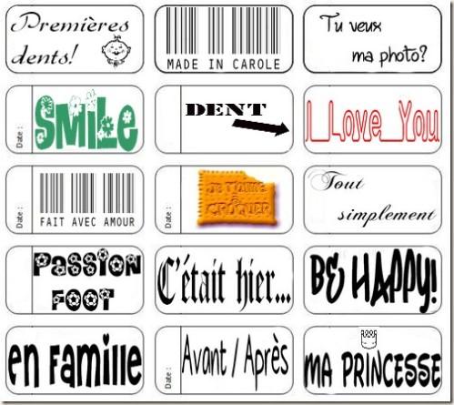 scrapbooking etiquettes a imprimer