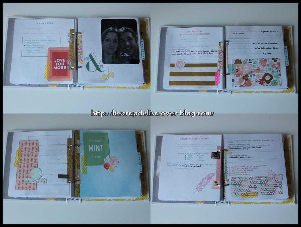 scrapbooking journal de grossesse