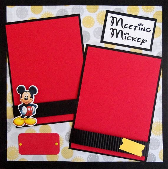 scrapbooking mickey