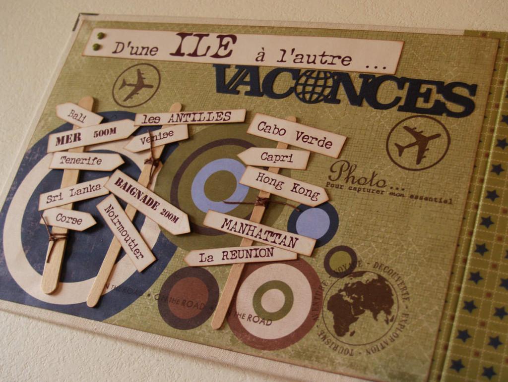 scrapbooking theme voyage