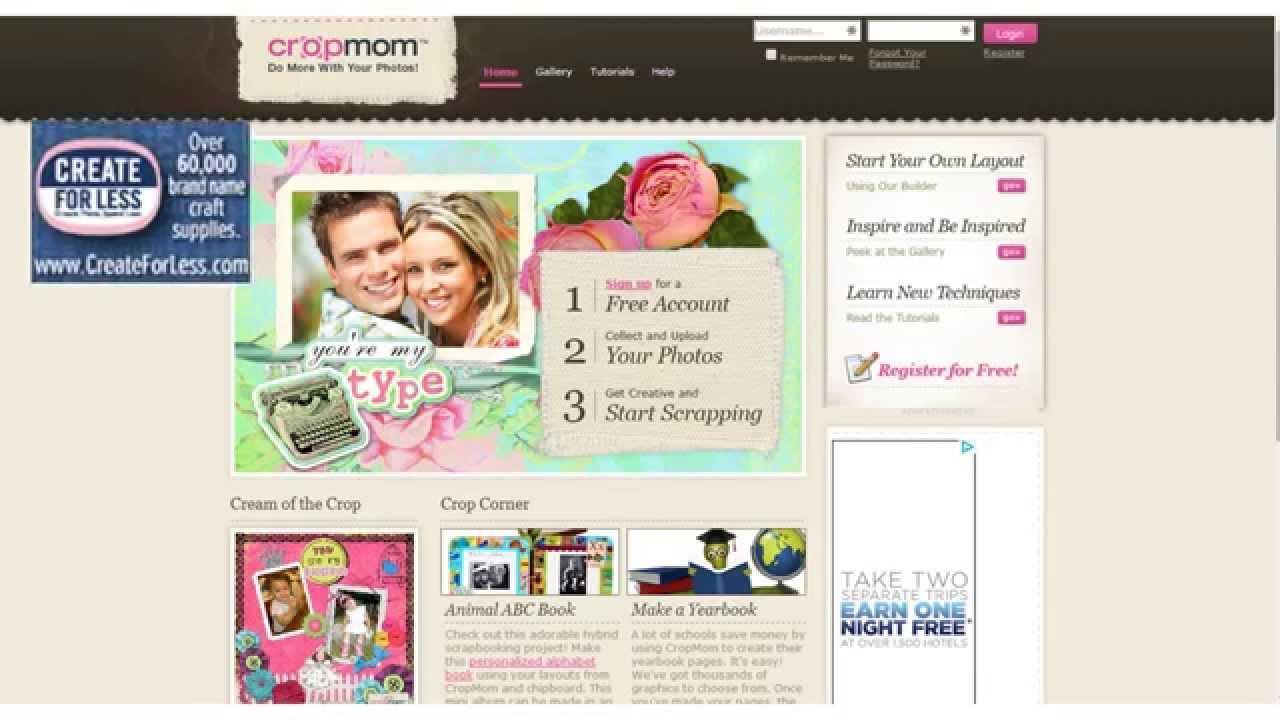 scrapbooking websites